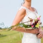 trouwboeket en bruid